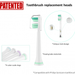 Patented electric toothbrush replacement heads