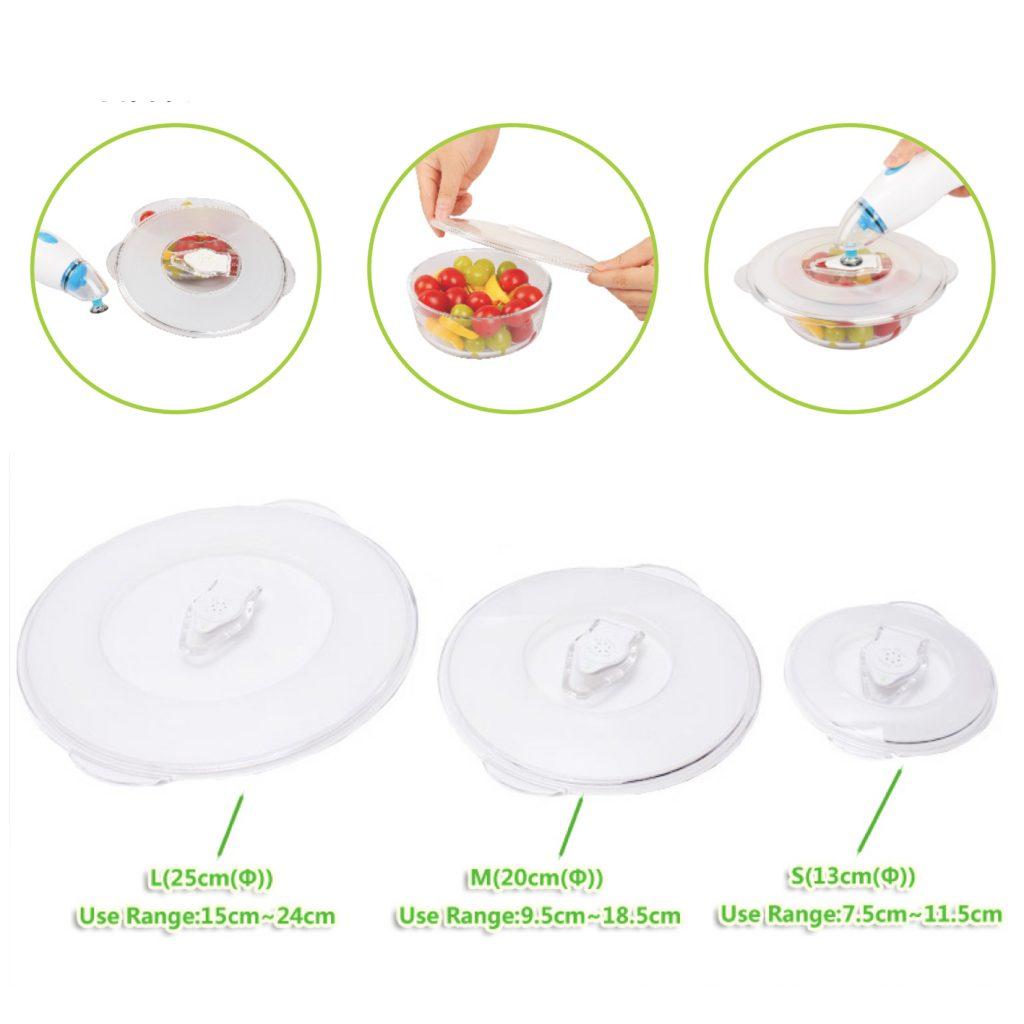 food vacuum storage cover lid